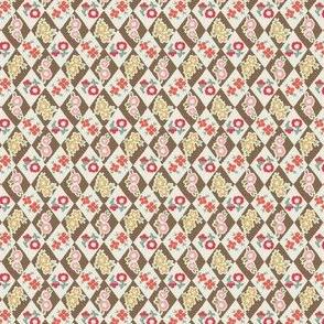 Flower and Rhombus Brown