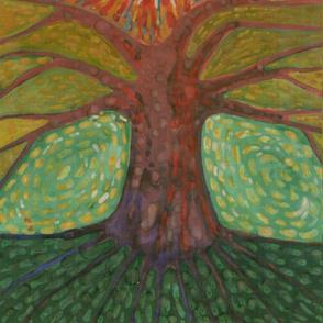 Sun And Tree