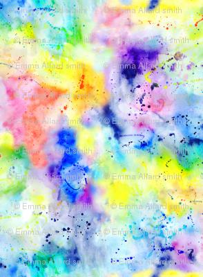 Watercolour Rainbow Wash