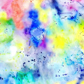 Watercolour Rainbow Wash