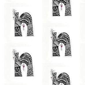 N initial doodle