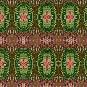 Native Pattern 7 Red Green