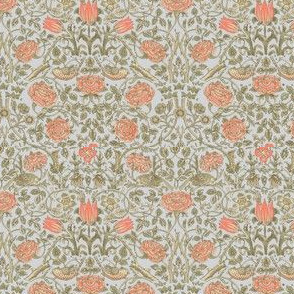 Tiny Tudor Roses Pale Grey