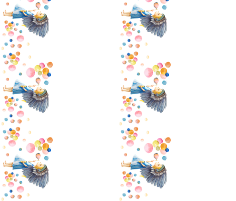 "10.5"" Border Fabric / Boho Child's Play fabric by shopcabin on Spoonflower - custom fabric"