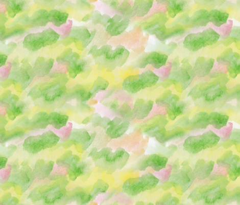 Watercolor Background for Kawaii Fruit fabric by lyddiedoodles on Spoonflower - custom fabric