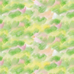 Watercolor Background for Kawaii Fruit