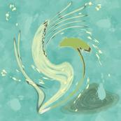 Dancing Abstract Water Weeds