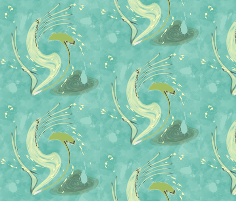 Dancing Abstract Water Weeds fabric by gargoylesentry on Spoonflower - custom fabric