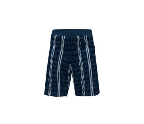 bowling shirt-blue pinstripe