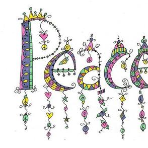 PEACE DANGLE DOODLE
