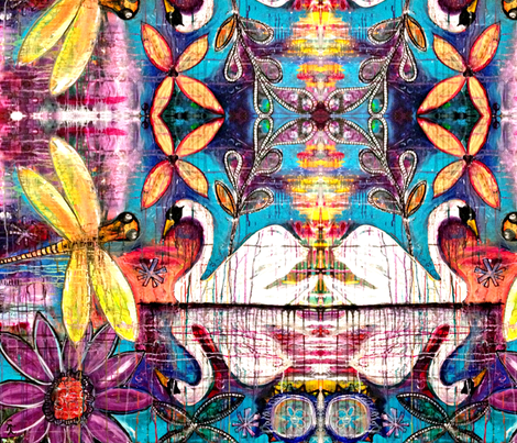 Swan Song-ed fabric by carolscanvas on Spoonflower - custom fabric