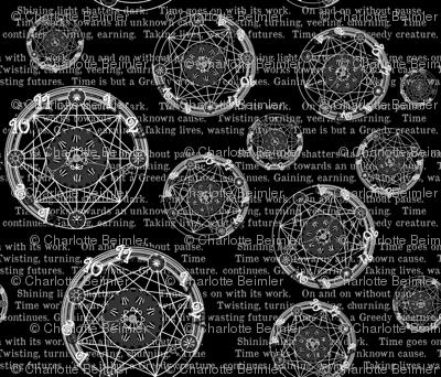 Crystal Clocks  White on Black