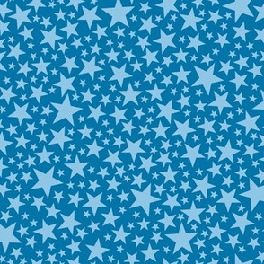 Star Shower* (Blue Liz) || stars outer space galaxy universe pop art patriotic independence day July 4th geometric
