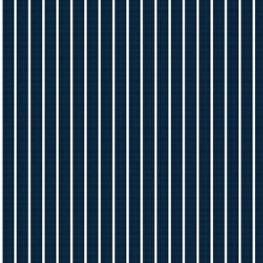 baseball stripes- white on navy