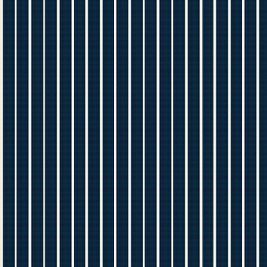 baseball stripes- cream on navy