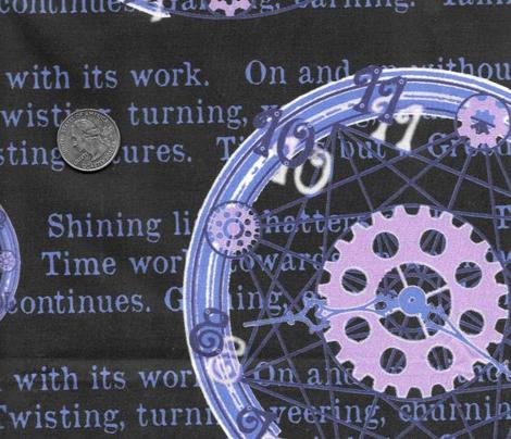 Crystal Clocks Blue on Black