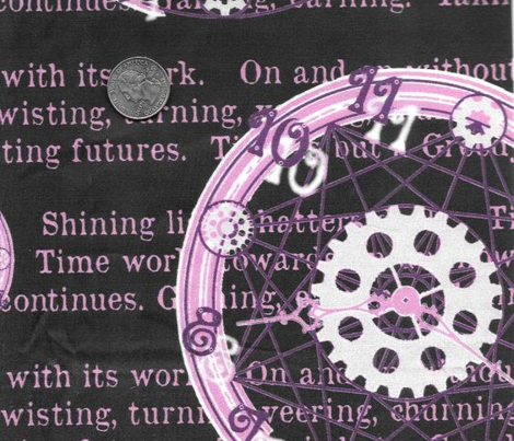 Crystal Clocks  Pastel Purple