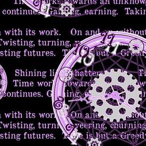 Crystal Clocks  Pastel Purple