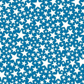 Star Shower* (White on Blue Liz) || stars outer space galaxy universe pop art patriotic independence day July 4th geometric