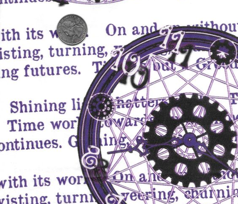 Crystal Clocks Purple on White