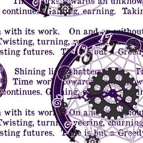 Crystal Clocks Purple on White