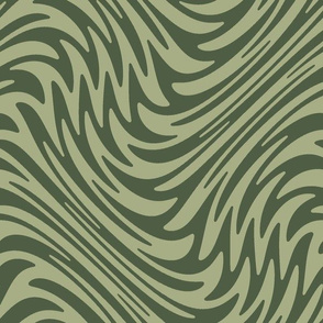 Bayeux feather swirl - olive