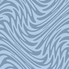 Feather swirl - faded denim