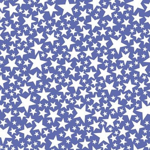 Star Shower* (White on Shadow) || stars outer space galaxy universe pop art patriotic independence day July 4th geometric