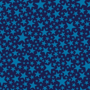 Star Shower* (Jackie Blue) || stars outer space galaxy universe pop art patriotic independence day July 4th geometric