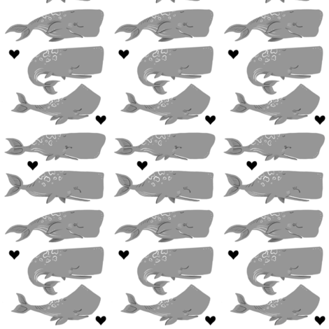 Stack of Whales - Smaller Scale fabric by taraput on Spoonflower - custom fabric