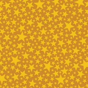 Star Shower* (Gold Seal) || stars outer space galaxy universe pop art patriotic independence day July 4th geometric mustard glitter sparkle