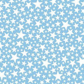 Star Shower* (White on Popeye) || stars outer space galaxy universe pop art patriotic independence day July 4th geometric pastel boys kids children baby nursery glitter sparkle