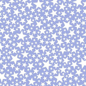 Star Shower* (White on Television Blue) || stars outer space galaxy universe pop art patriotic independence day July 4th geometric pastel kids children baby nursery