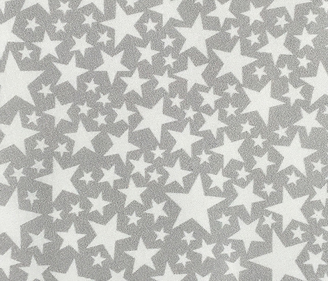 Star Shower* (White on Silkscreen) || stars outer space galaxy universe pop art patriotic independence day July 4th geometric pastel kids children baby nursery silver sparkle glitter sparkly