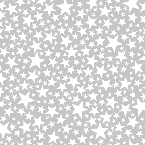 Star Shower* (White on Silkscreen) || stars outer space galaxy universe pop art patriotic independence day July 4th geometric pastel kids children baby nursery silver sparkle glitter sparkly fabric by pennycandy on Spoonflower - custom fabric