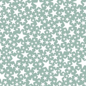 Star Shower* (White on Camouflage) || stars outer space galaxy universe pop art patriotic independence day July 4th geometric pastel kids children baby nursery sparkly sparkle glitter