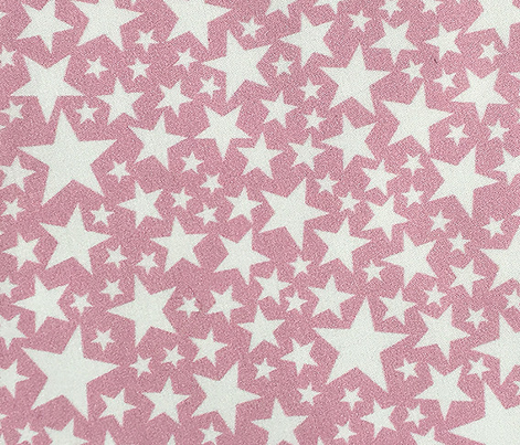 Star Shower* (White on Pink Cow) || stars outer space galaxy universe pop art patriotic independence day July 4th geometric pastel girls kids children baby nursery glitter sparkle