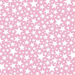 Star Shower* (White on Pink Cow) || stars outer space galaxy universe pop art patriotic independence day July 4th geometric pastel girls kids children baby nursery