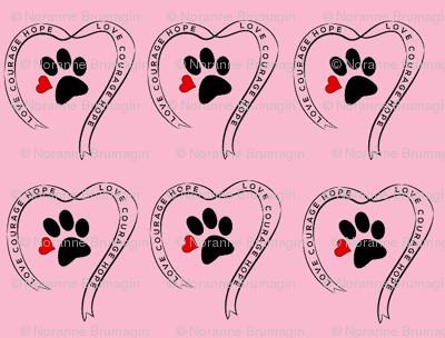 Pet Cancer Ribbon Pink ExtraSmall