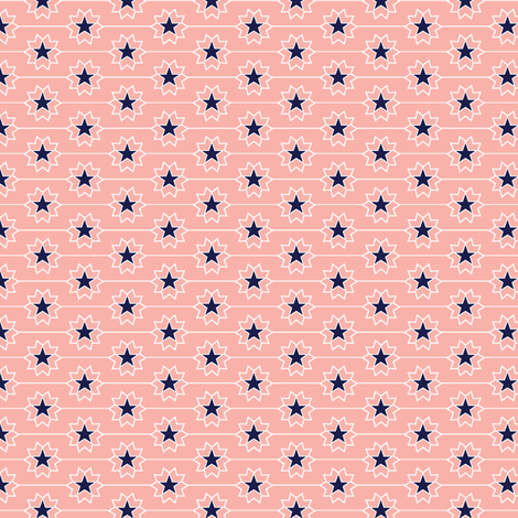 Little Star* (Mona) || patriotic July 4th Independence Day star stars flowers bandana western cowboy cowgirl fabric by pennycandy on Spoonflower - custom fabric