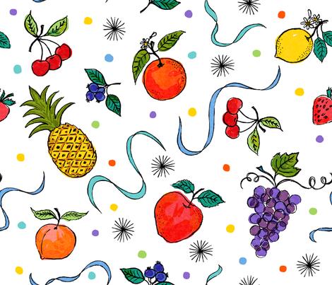 fruit starlight fabric by andibird on Spoonflower - custom fabric