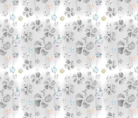 bw-abstract-floral fabric by bittybottoms on Spoonflower - custom fabric