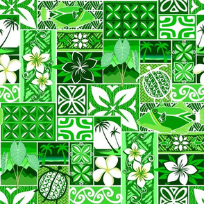 New Hawaiian Motif - green