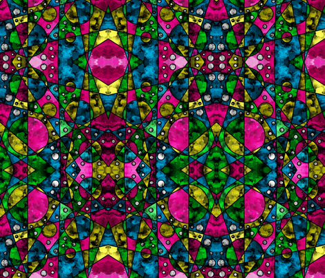 Watercolor Kaleidoscope fabric by ally_the_junebug on Spoonflower - custom fabric