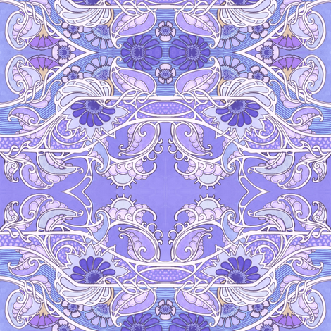 Peter Piper Ate a Peck of Purple Paisley fabric by edsel2084 on Spoonflower - custom fabric