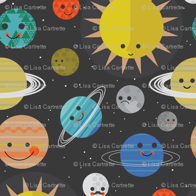 Solar system buddies fabric bashfulbirdie spoonflower for Solar system fabric panel