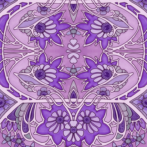 Purple Doesn't Answer Questions fabric by edsel2084 on Spoonflower - custom fabric
