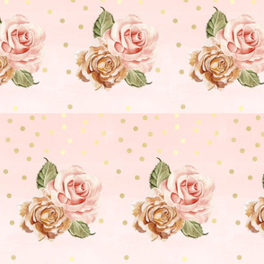Rose gold blush roses
