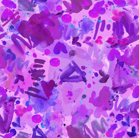 Abstract Purple Pizazz fabric by sarah_treu on Spoonflower - custom fabric