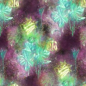 FAIRYTALE DREAM FLOWERS DOUBLE BOUQUET BURGUNDY